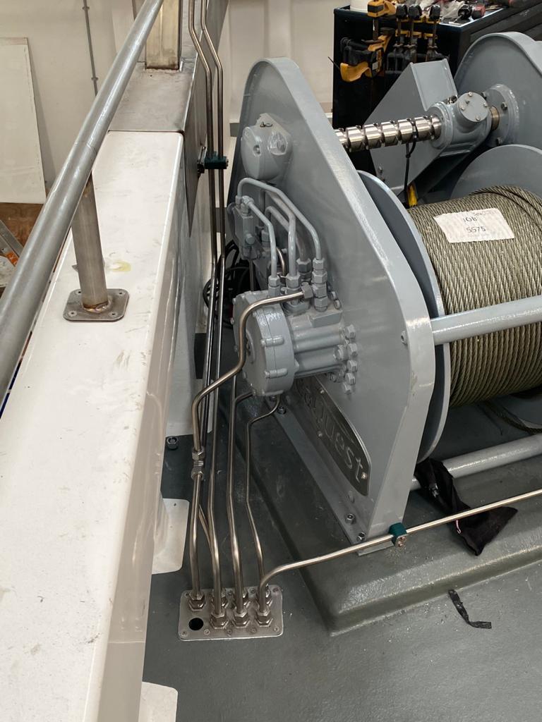 MFV Shazleah Trawl Winch Pipework